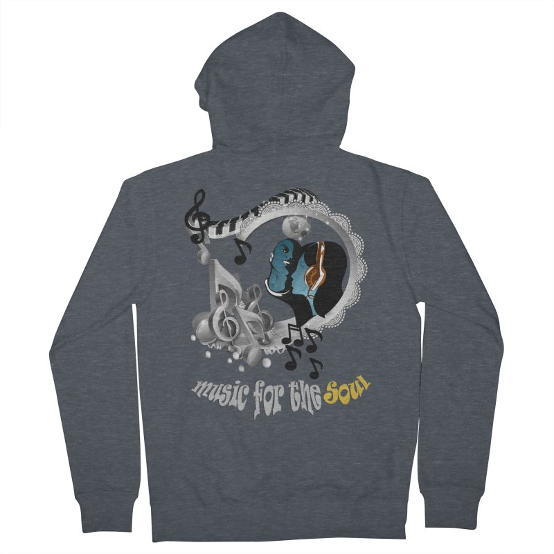 Music for the Soul in grey Women's Zip-Up Hoody by justkidding's Artist Shop