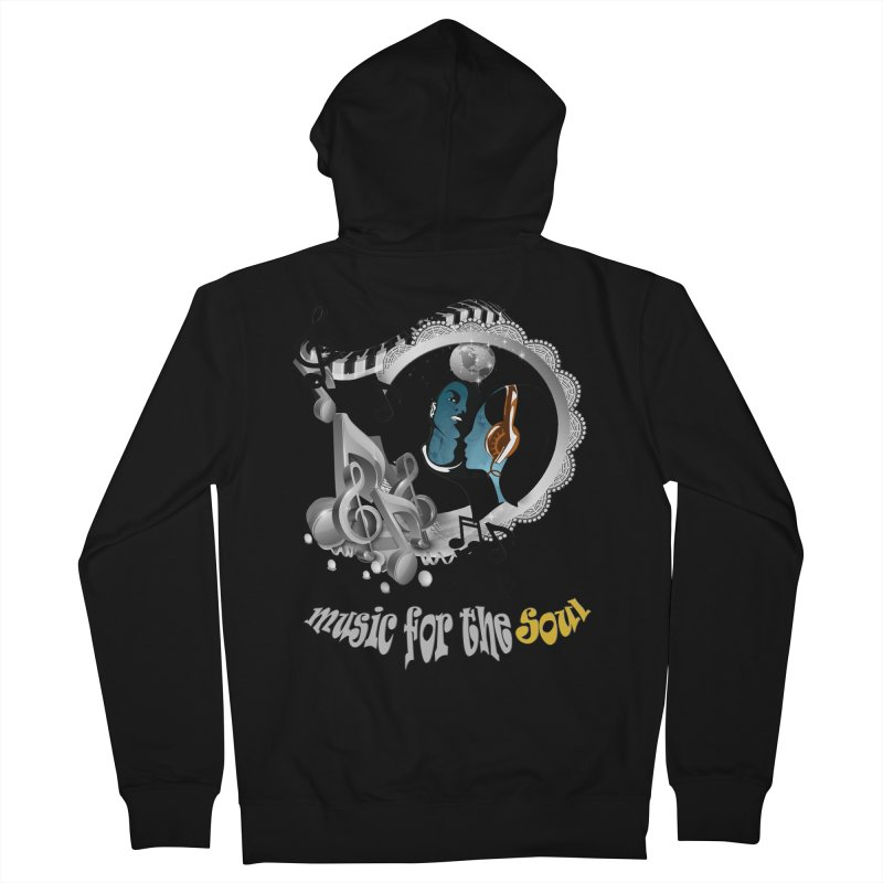 Music for the Soul in grey Men's Zip-Up Hoody by justkidding's Artist Shop