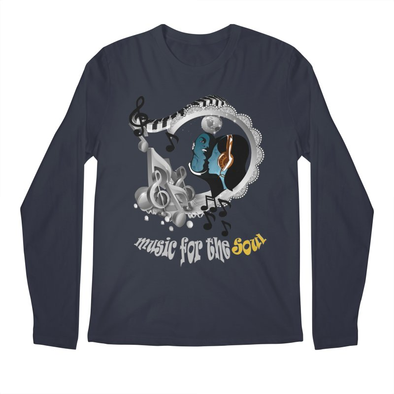 Music for the Soul in grey Men's Longsleeve T-Shirt by justkidding's Artist Shop