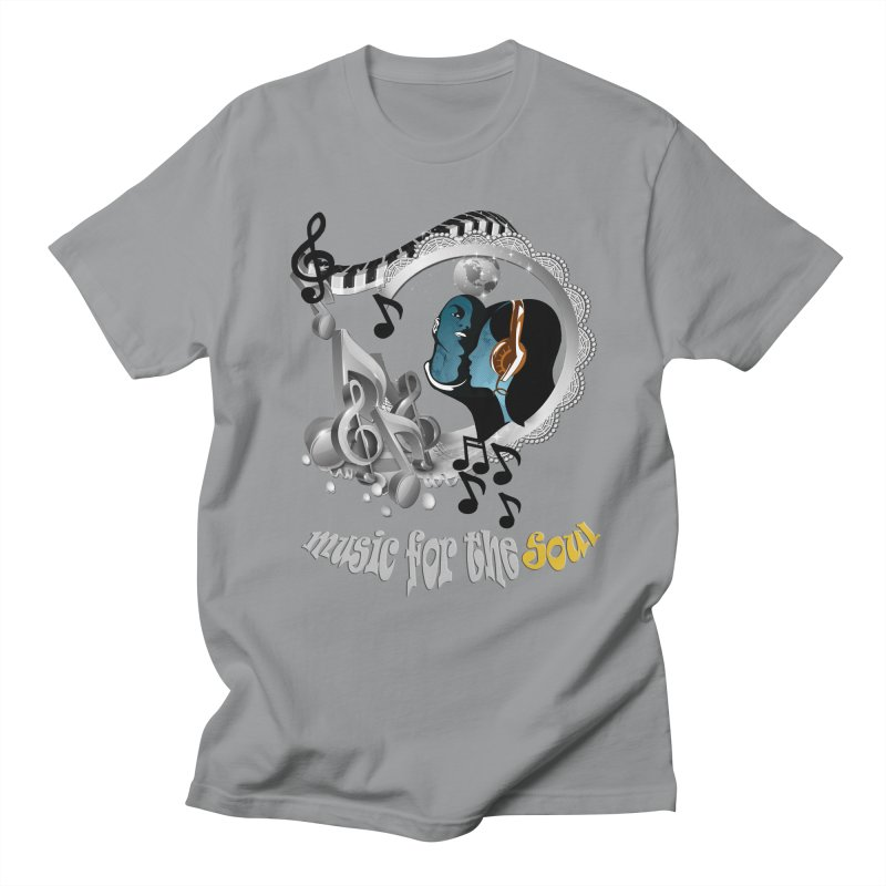 Music for the Soul in grey Men's T-shirt by justkidding's Artist Shop