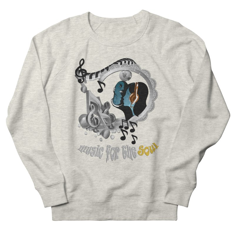 Music for the Soul in grey Women's French Terry Sweatshirt by NadineMay Artist Shop