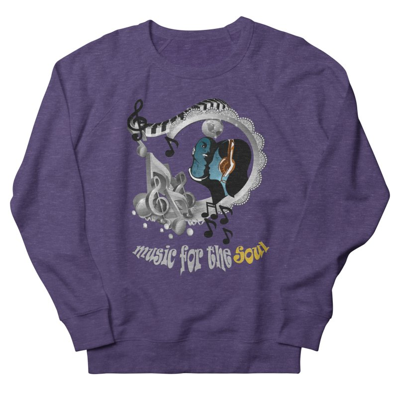 Music for the Soul in grey Men's French Terry Sweatshirt by NadineMay Artist Shop
