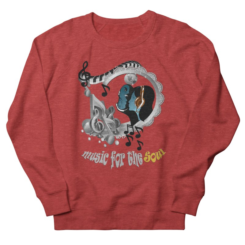 Music for the Soul in grey Men's Sweatshirt by justkidding's Artist Shop