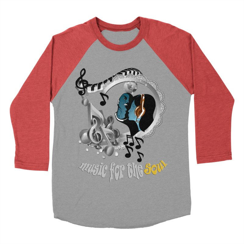 Music for the Soul in grey Men's Baseball Triblend T-Shirt by justkidding's Artist Shop