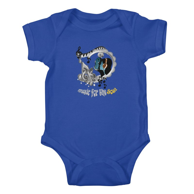 Music for the Soul in grey Kids Baby Bodysuit by NadineMay Artist Shop
