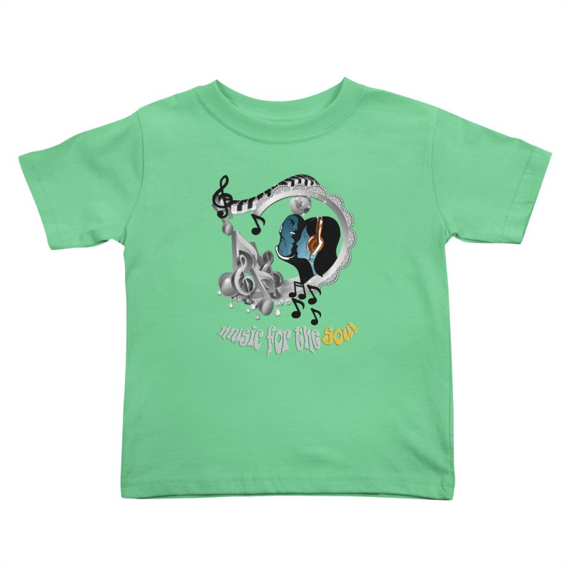 Music for the Soul in grey Kids Toddler T-Shirt by NadineMay Artist Shop
