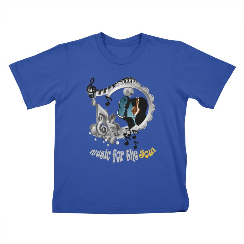 Music for the Soul in grey Kids T-Shirt by NadineMay Artist Shop