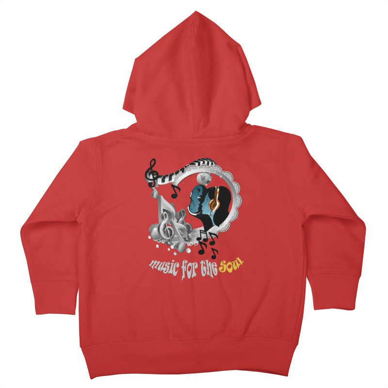 Music for the Soul in grey Kids Toddler Zip-Up Hoody by NadineMay Artist Shop