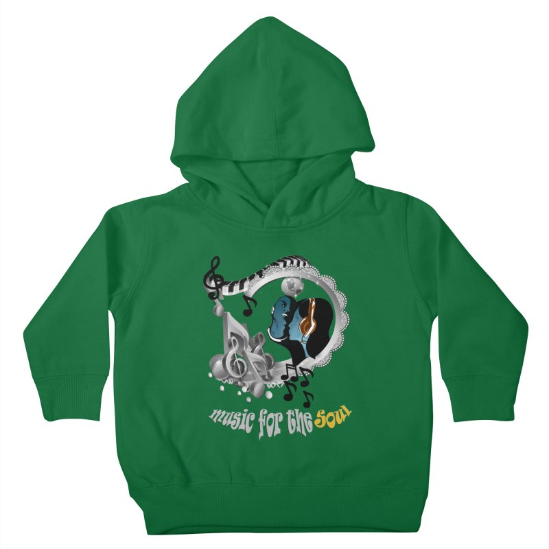 Music for the Soul in grey Kids Toddler Pullover Hoody by NadineMay Artist Shop