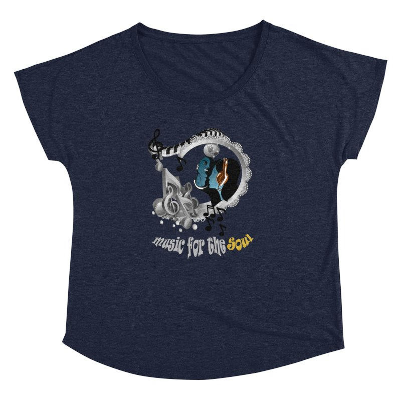 Music for the Soul in grey Women's Dolman by NadineMay Artist Shop