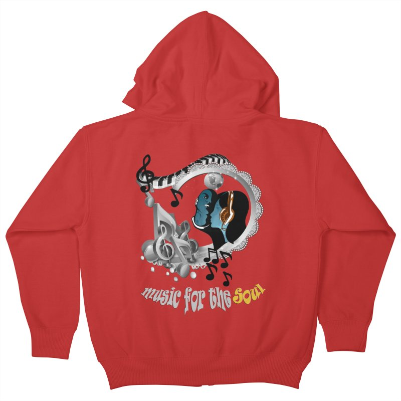 Music for the Soul in grey Kids Zip-Up Hoody by justkidding's Artist Shop