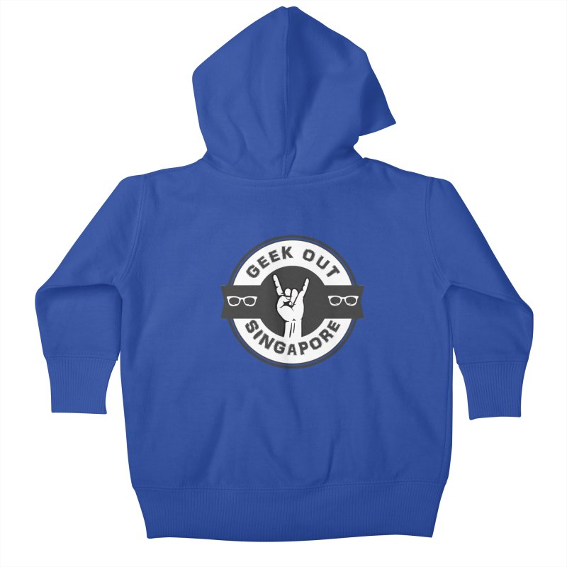 Geek Out Singapore Kids Baby Zip-Up Hoody by Swag Stop by justsaying.ASIA