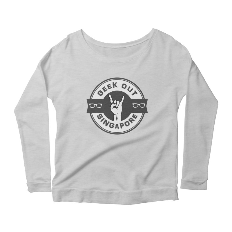 Geek Out Singapore Women's Scoop Neck Longsleeve T-Shirt by Swag Stop by justsaying.ASIA