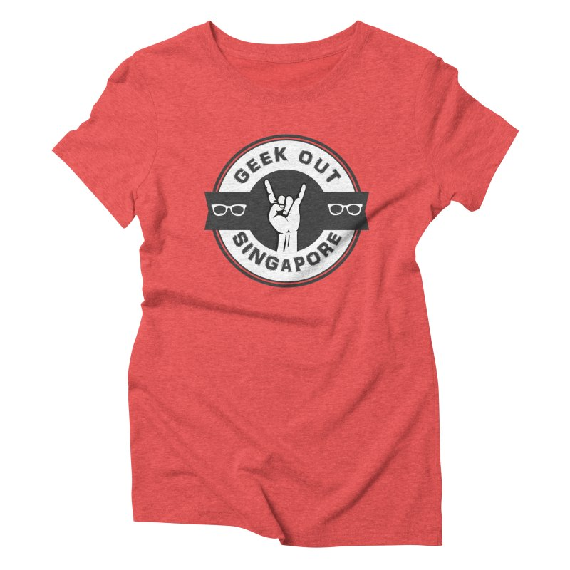 Geek Out Singapore Women's Triblend T-Shirt by Swag Stop by justsaying.ASIA