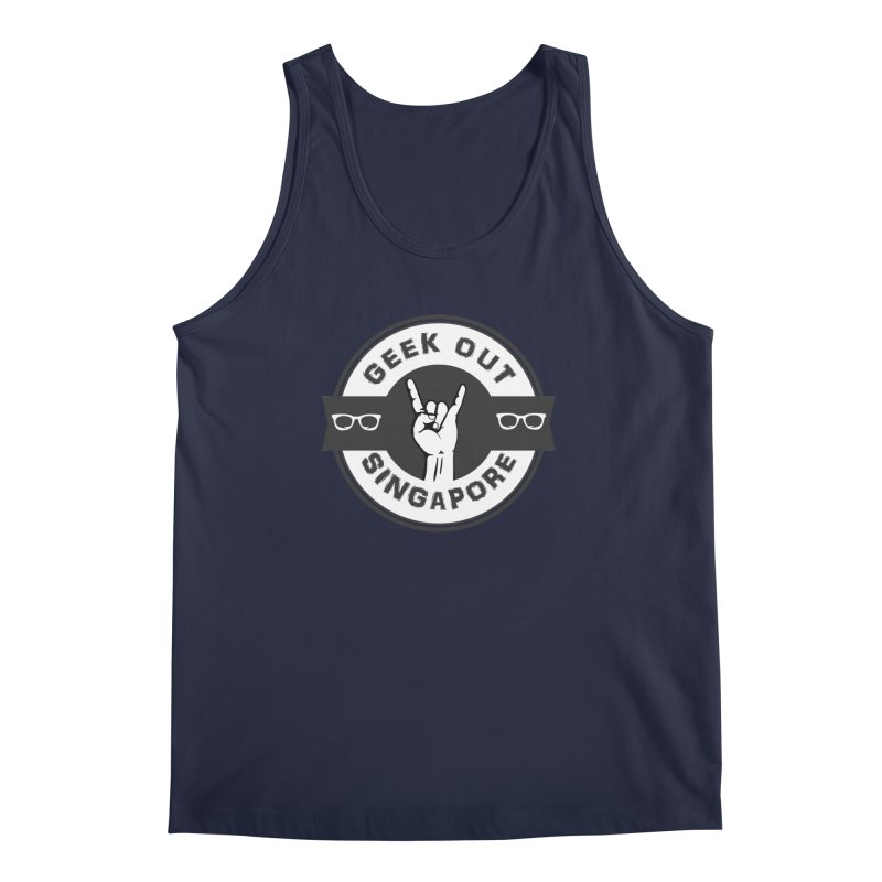 Geek Out Singapore Men's Tank by Swag Stop by justsaying.ASIA