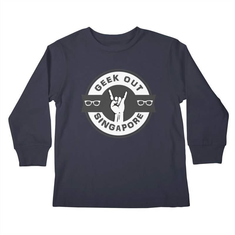 Geek Out Singapore Kids Longsleeve T-Shirt by Swag Stop by justsaying.ASIA