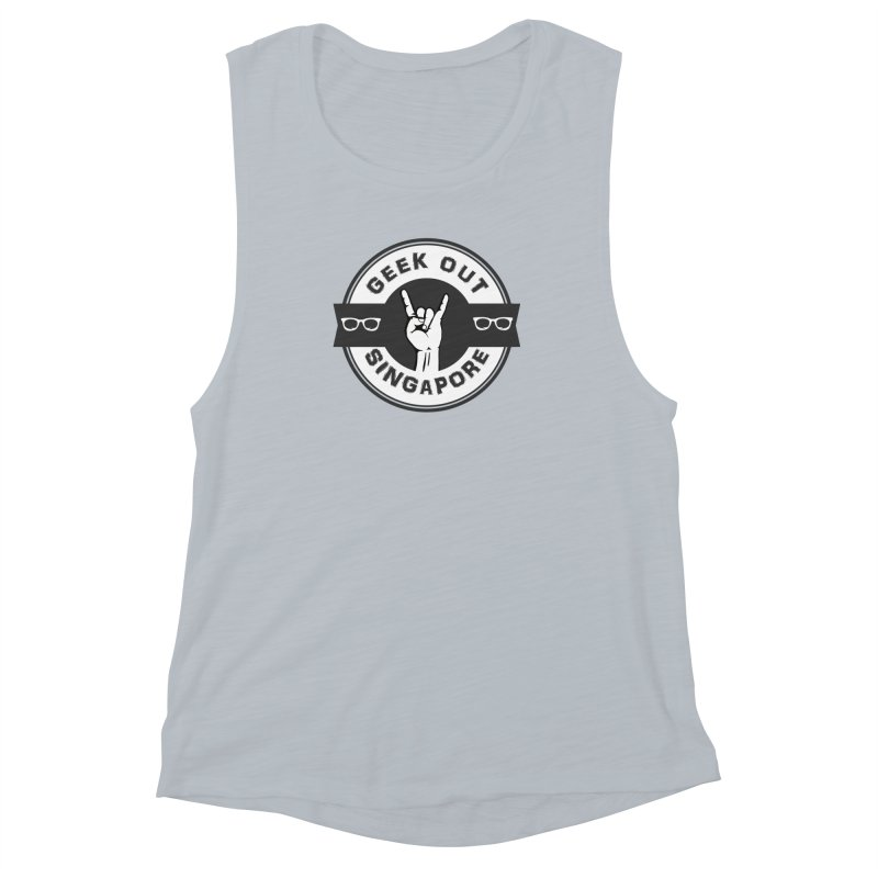 Geek Out Singapore Women's Muscle Tank by Swag Stop by justsaying.ASIA
