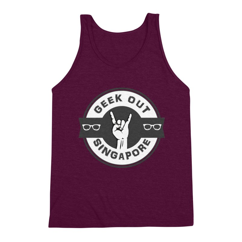 Geek Out Singapore Men's Triblend Tank by Swag Stop by justsaying.ASIA