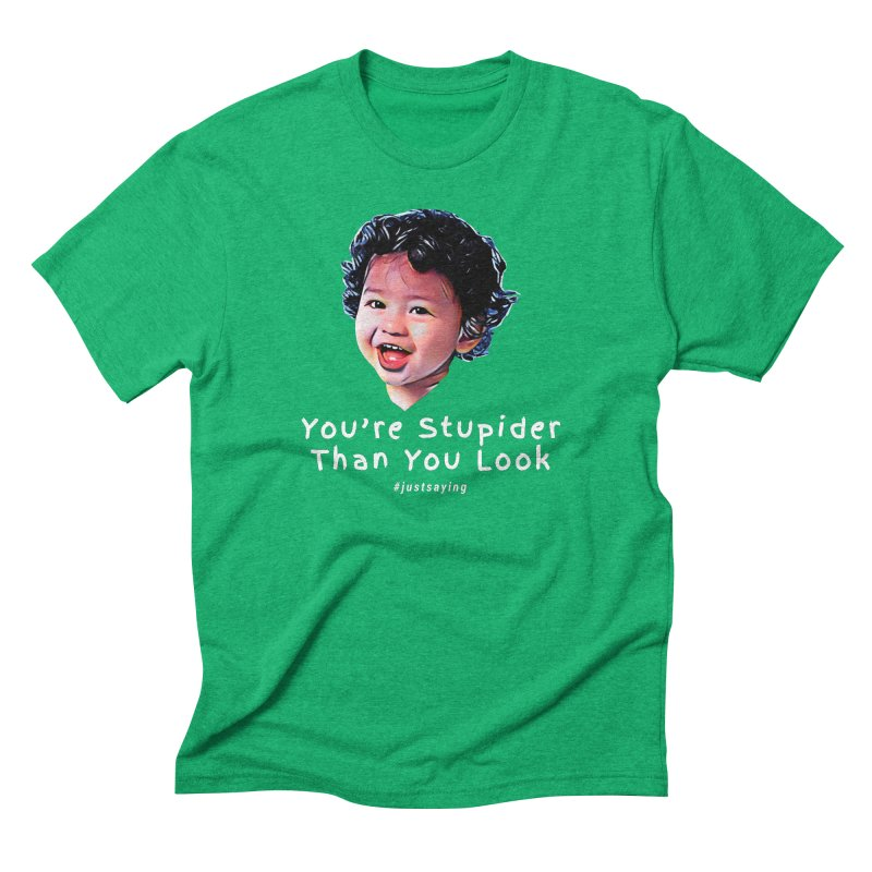 You're Stupider Than You Look Men's Triblend T-Shirt by Swag Stop by justsaying.ASIA