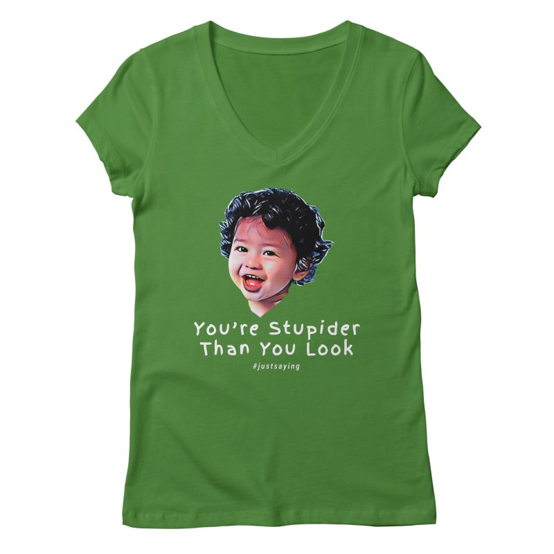 You're Stupider Than You Look Women's Regular V-Neck by Swag Stop by justsaying.ASIA