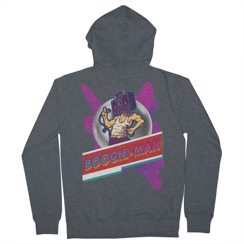 The Boogie-Man Men's French Terry Zip-Up Hoody by Swag Stop by justsaying.ASIA