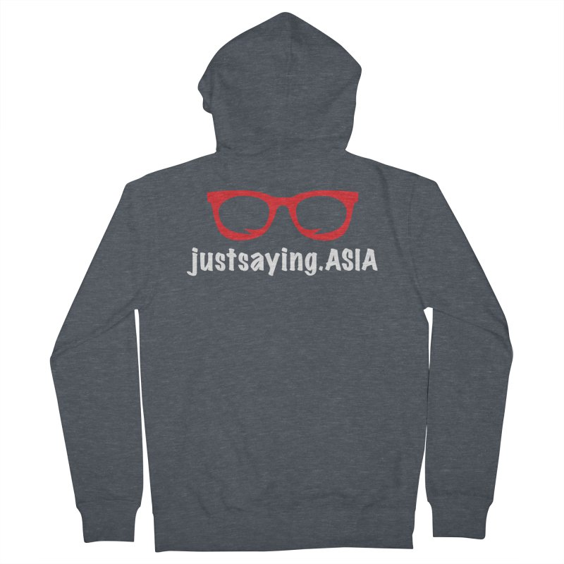justsaying.ASIA Emblem Women's French Terry Zip-Up Hoody by Swag Stop by justsaying.ASIA