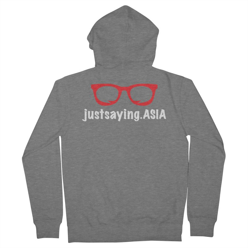 justsaying.ASIA Emblem Men's Zip-Up Hoody by Swag Stop by justsaying.ASIA