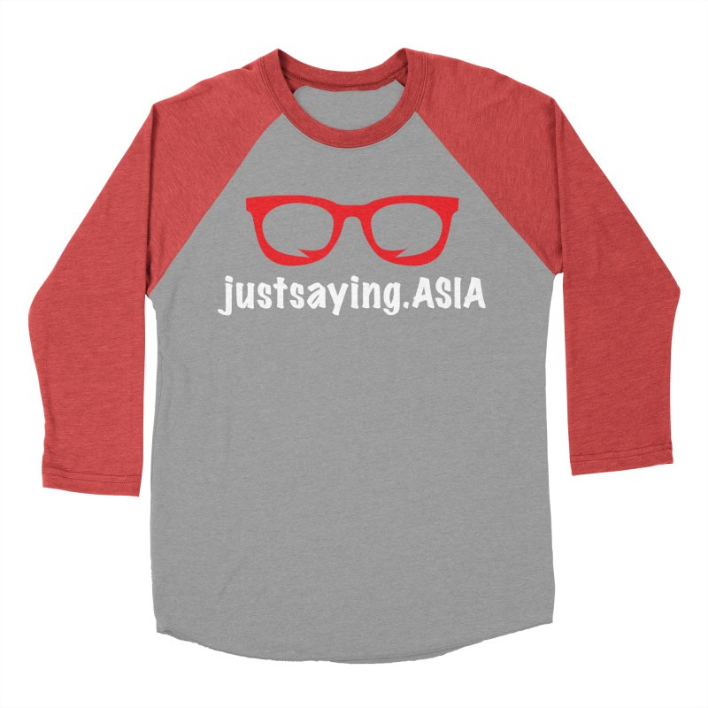 justsaying.ASIA Emblem Women's Baseball Triblend Longsleeve T-Shirt by Swag Stop by justsaying.ASIA