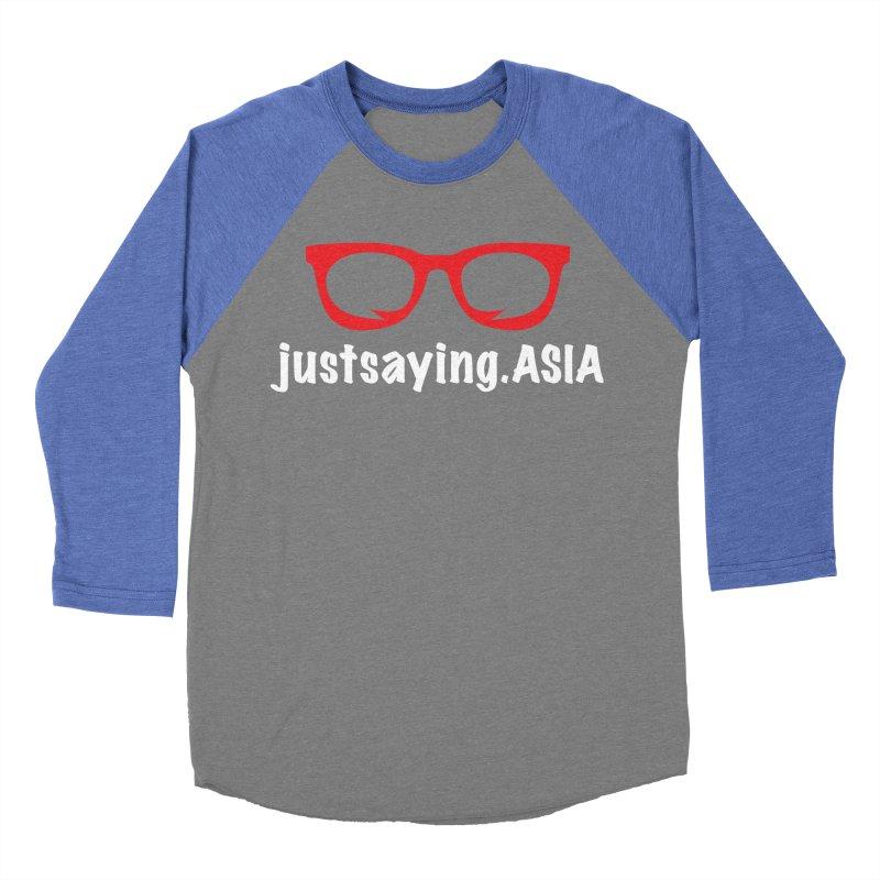 justsaying.ASIA Emblem Men's Baseball Triblend T-Shirt by Swag Stop by justsaying.ASIA