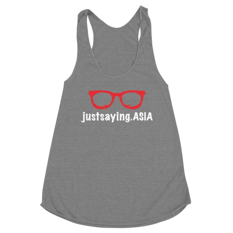 justsaying.ASIA Emblem Women's Racerback Triblend Tank by Swag Stop by justsaying.ASIA