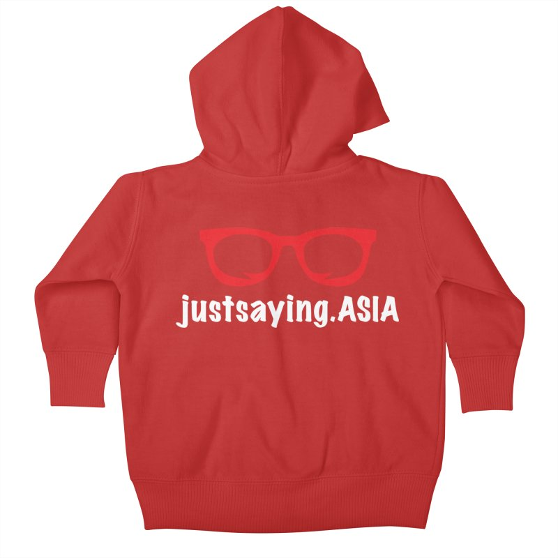 justsaying.ASIA Emblem Kids Baby Zip-Up Hoody by Swag Stop by justsaying.ASIA