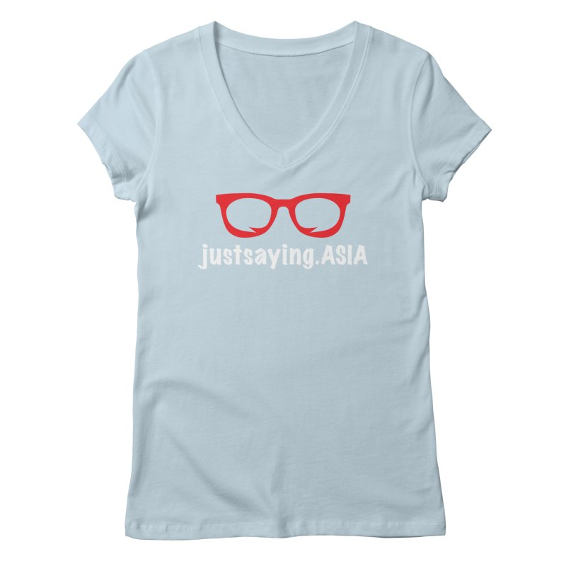 justsaying.ASIA Emblem Women's V-Neck by Swag Stop by justsaying.ASIA