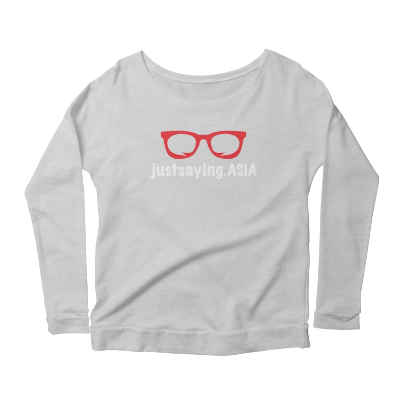 justsaying.ASIA Emblem Women's Longsleeve Scoopneck  by Swag Stop by justsaying.ASIA