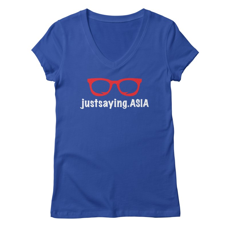justsaying.ASIA Emblem Women's Regular V-Neck by Swag Stop by justsaying.ASIA