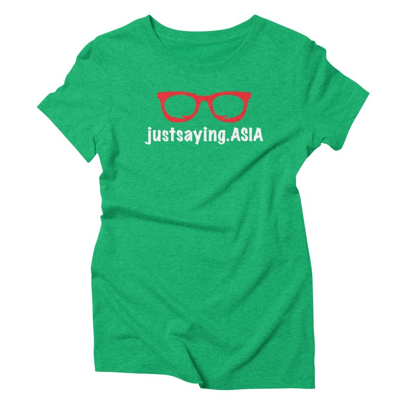 justsaying.ASIA Emblem Women's Triblend T-Shirt by Swag Stop by justsaying.ASIA