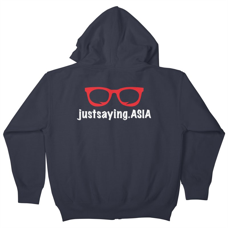 justsaying.ASIA Emblem Kids Zip-Up Hoody by Swag Stop by justsaying.ASIA