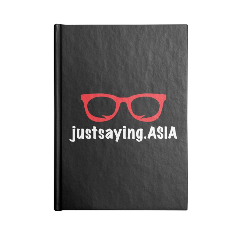 justsaying.ASIA Emblem Accessories Lined Journal Notebook by Swag Stop by justsaying.ASIA