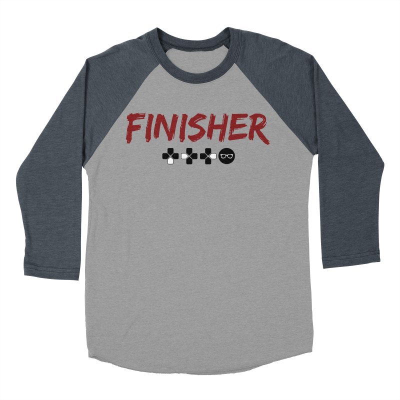 Finisher Men's Baseball Triblend Longsleeve T-Shirt by Swag Stop by justsaying.ASIA