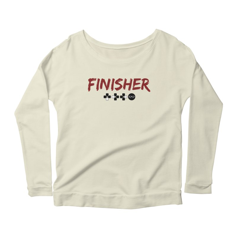 Finisher Women's Scoop Neck Longsleeve T-Shirt by Swag Stop by justsaying.ASIA