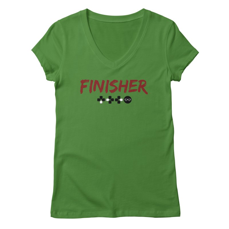 Finisher Women's Regular V-Neck by Swag Stop by justsaying.ASIA