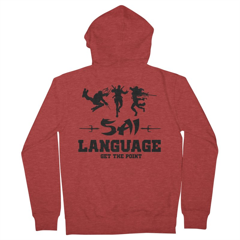 Sai Language Men's French Terry Zip-Up Hoody by Swag Stop by justsaying.ASIA