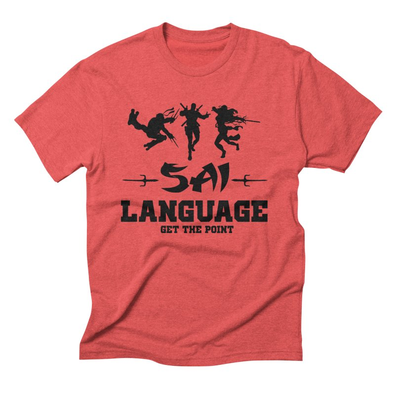Sai Language Men's Triblend T-shirt by Swag Stop by justsaying.ASIA
