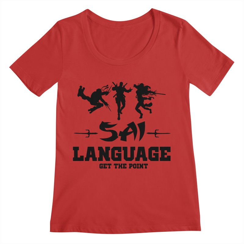 Sai Language Women's Regular Scoop Neck by Swag Stop by justsaying.ASIA
