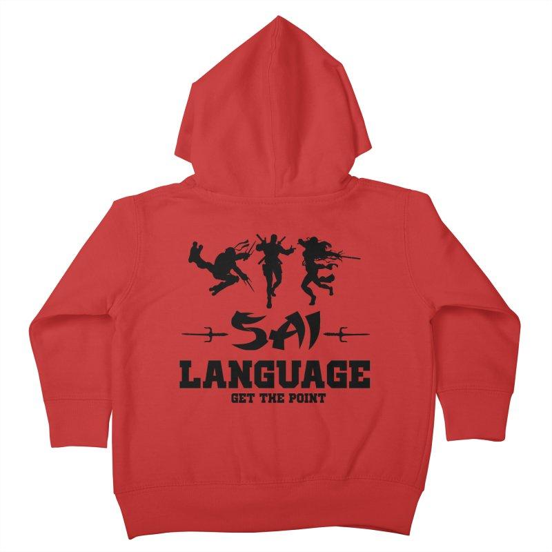 Sai Language Kids Toddler Zip-Up Hoody by Swag Stop by justsaying.ASIA