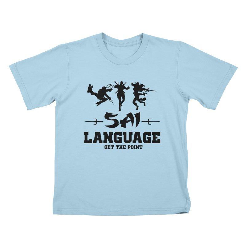 Sai Language Kids T-Shirt by Swag Stop by justsaying.ASIA