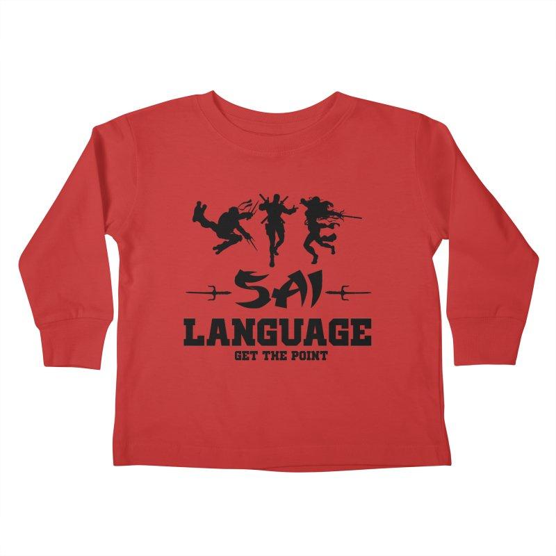 Sai Language Kids Toddler Longsleeve T-Shirt by Swag Stop by justsaying.ASIA