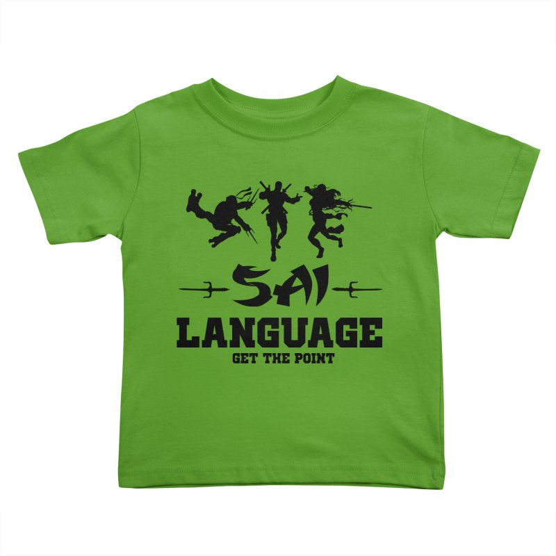 Sai Language Kids Toddler T-Shirt by Swag Stop by justsaying.ASIA