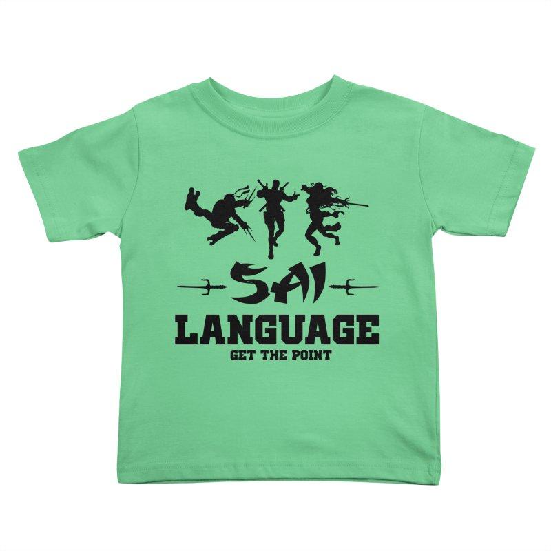 Sai Language Kids Toddler T-Shirt by Swag Stop by justsaying.ASIA