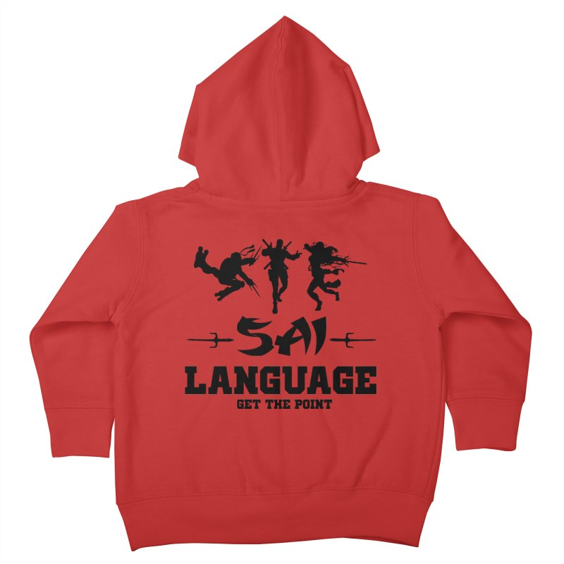 Sai Language Kids Toddler Zip-Up Hoody by Swag Stop by justsaying.ASIA
