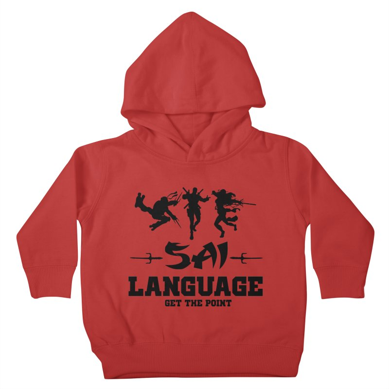 Sai Language Kids Toddler Pullover Hoody by Swag Stop by justsaying.ASIA